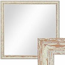 PHOTOLINI Wand-Spiegel 56x56 cm im Holzrahmen