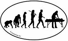 Physiotherapie Physiotherapeut EVOLUTION Aufkleber