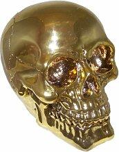 Pi Wear Totenkopf Gold☆Glänzende Schädel Deko-Figur☆Geschenkidee Figuren☆Halloween/Fantasy/Horror/Mystery/Gothic