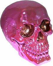 Pi Wear Totenkopf Pink Lady☆pink glänzende Schädel Deko-Figur☆Geschenkidee☆Figuren☆Horror☆Fantasy☆Halloween☆Mystery