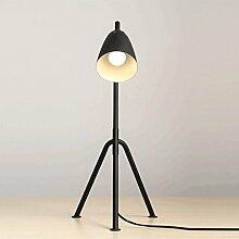 PIAOLING Amerikanische Retro schwarze Tischlampe, Nordic Creative Trident Schreibtischlampe, Schreibtisch Wohnzimmer Sofa Büro Beleuchtung