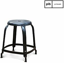 pib - Hocker - Atelier-Hocker mit matt - schwarzen