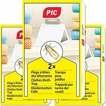 PIC Kleidermottenfalle - Dreierpack = 6 Stück -