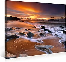 Picanova Caribbean Beach Sunset 100x75cm –