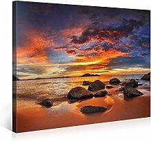 Picanova Colourful Sunset Over Island 75x100cm –