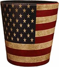 Picapoo Vintage Weltkarte Turm Flagge Muster PU
