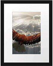 Picati Adler über den Wolken Bilderrahmen mit