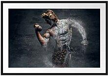 Picati antiker männlicher Sportler Bilderrahmen