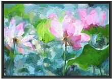Picati Asiatische Lotusblüte im Teich im