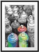 Picati Bunte Graffiti Flaschen Bilderrahmen mit