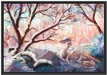Picati Drache im schneebedeckten Wald im