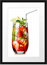 Picati Erdbeercocktail Bilderrahmen mit