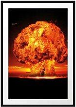 Picati Gefährlicher Atomfeuerpilz Bilderrahmen
