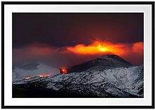 Picati Gefährlicher Vulkanausbruch Bilderrahmen