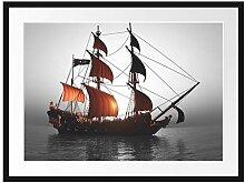 Picati Gewaltiges Segelschiff Bilderrahmen mit