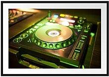 Picati Grün beleuchteter DJ Pult Bilderrahmen mit