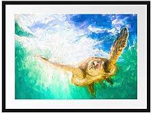 Picati Grüne Meeresschildkröte Kunst