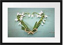 Picati Herz aus Blumen Bilderrahmen mit