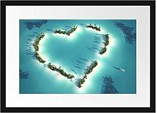 Picati Herz geformt aus Inseln Bilderrahmen mit