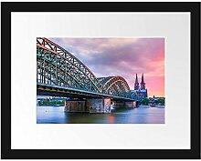 Picati Hohenzollernbrücke in Köln Bilderrahmen