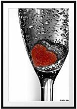 Picati kleines Herz in Sektglas Bilderrahmen mit
