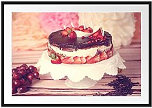 Picati Köstliche Erdbeertorte Bilderrahmen mit