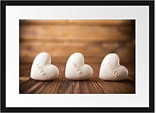 Picati Love Hope Dream Hearts Bilderrahmen mit