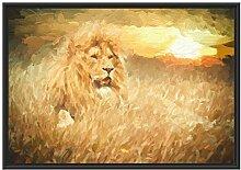 Picati mächtiger Löwe Kunst im Schattenfugen