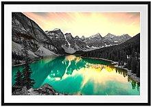 Picati Moraine Lake in Canada Bilderrahmen mit
