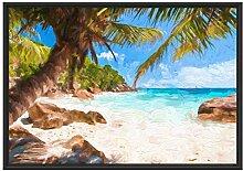 Picati Palmenstrand Seychellen Kunst im
