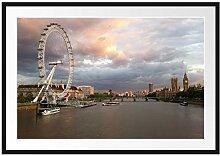 Picati Riesenrad London Eye Bilderrahmen mit