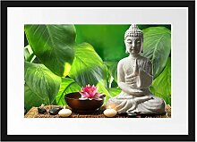 Picati Seerose Buddha Statue Bilderrahmen mit