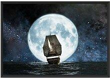 Picati Segelschiff bei Vollmond im Schattenfugen
