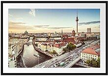 Picati Skyline von Berlin Bilderrahmen mit