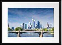 Picati Skyline von Frankfurt am Main Bilderrahmen