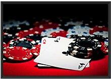 Picati Spielkarten im Schattenfugen Bilderrahmen |