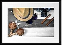 Picati Stillleben Kubazigarren Bilderrahmen mit