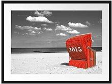 Picati Strandkorb an der Nordsee Bilderrahmen mit