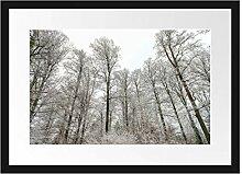 Picati verschneiter Wald Bilderrahmen mit