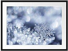 Picati Wunderschöner Eiskristall Bilderrahmen mit