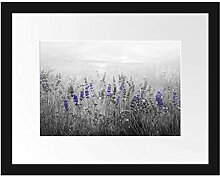 Picati wunderschönes Lavendelfeld Bilderrahmen