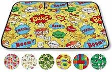Picknickdecke Fotodruck, Auswahl: Größe - 150x200 cm Design - Comic, Reiseunterlage Campingdecke Stranddecke