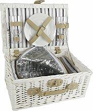 Picknickkorb für Zwei - Weidenkorb -