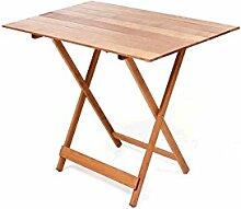 Picknicktisch aus Holz Buche Abmessungen: 60x 100cm.