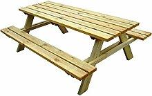 Picknicktisch Holz gardiun Solid 200x 148x 70cm E: 45mm