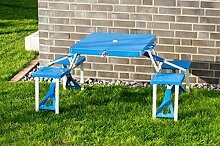 Picknicktisch Koffertisch Camping Klapptisch 4 Alu Hocker Koffer Tisch