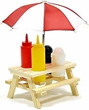 Picknicktisch Senf- und Ketchup Spender - Bierbank