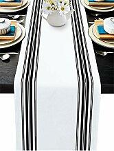 PIEPLE Tischläufer Baumwolle Leinen lang 308 cm