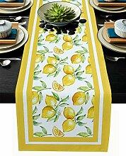 PIEPLE Tischläufer mit Wasserfarben-Füllung aus