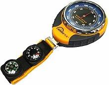PIGE 4 in1 Digital Höhenmesser Barometer Thermometer Kompass mit hängenden Ring für Outdoor Camping Wandern